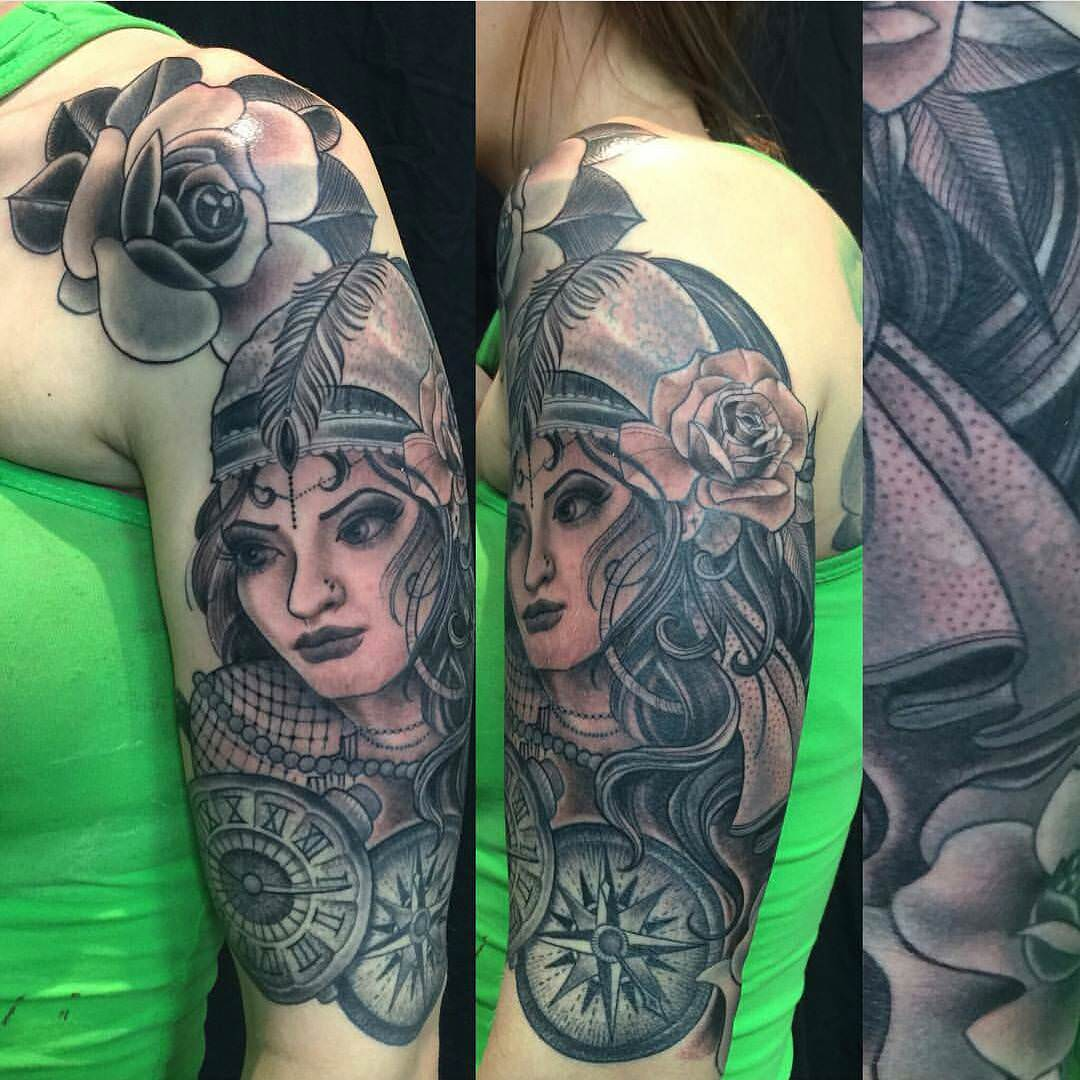Beautiful Lady Tattoo Design