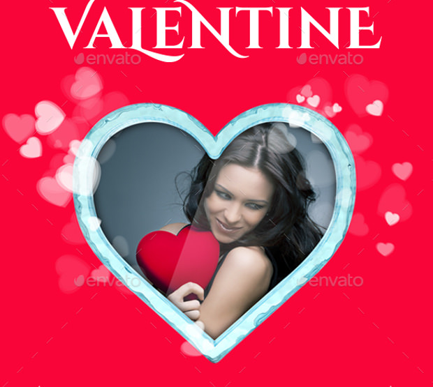Lovely Mock up for Valentines Greetings