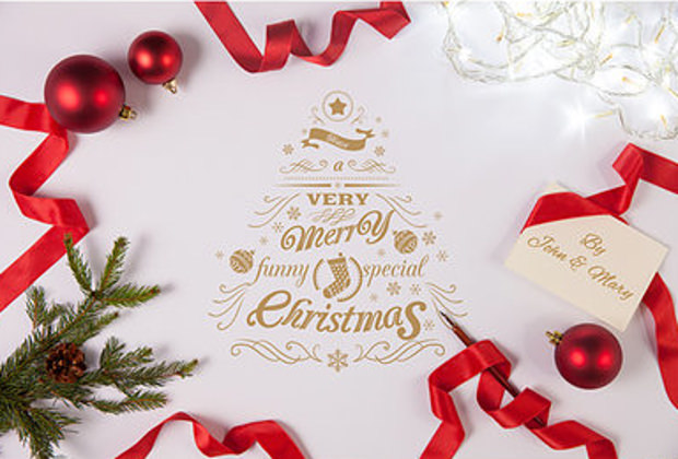 christmas greeting card mock ups
