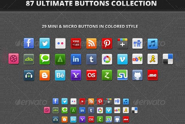 80+ Social Buttons