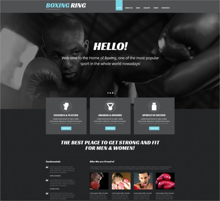 Responsive Boxing WordPress Theme
