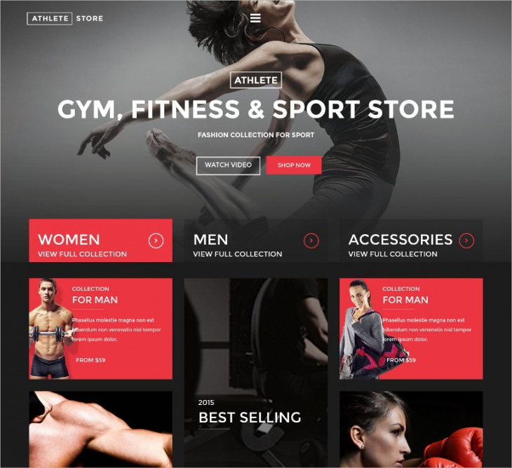 wp fitness sport store theme1