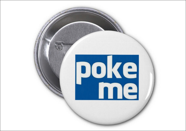 facebook poke me button