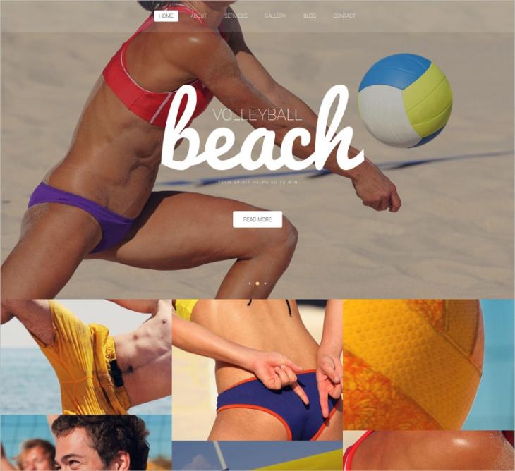 Beach Volleyball Club WP Theme