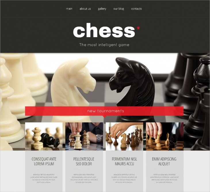 Chess WordPress Theme
