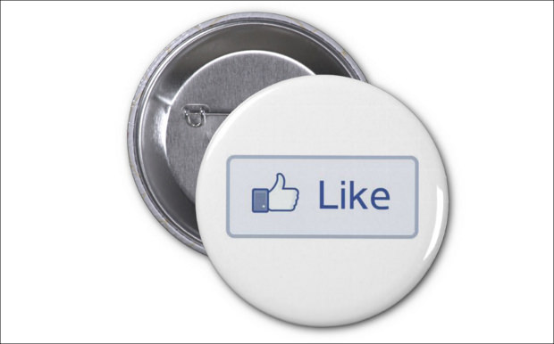 facebook like round button