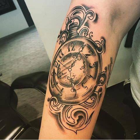 Amazing Watch Tattoo Design