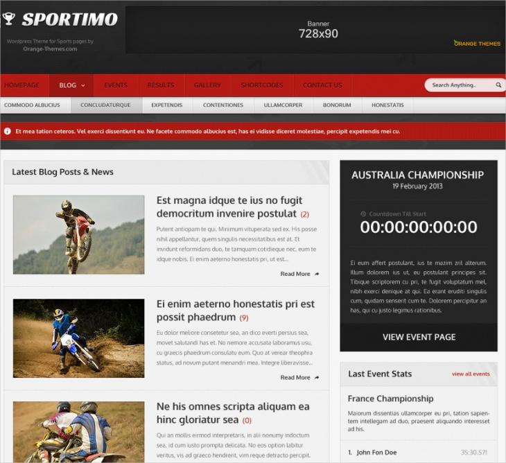 Sport & Event Magazine Theme