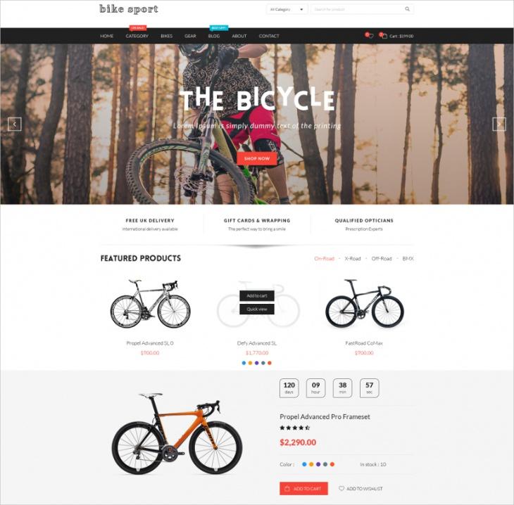 Bike Sport WooCommerce Theme