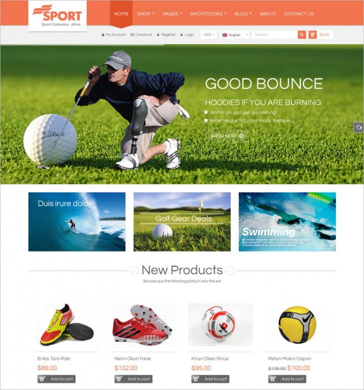 WordPress Sports Store Theme