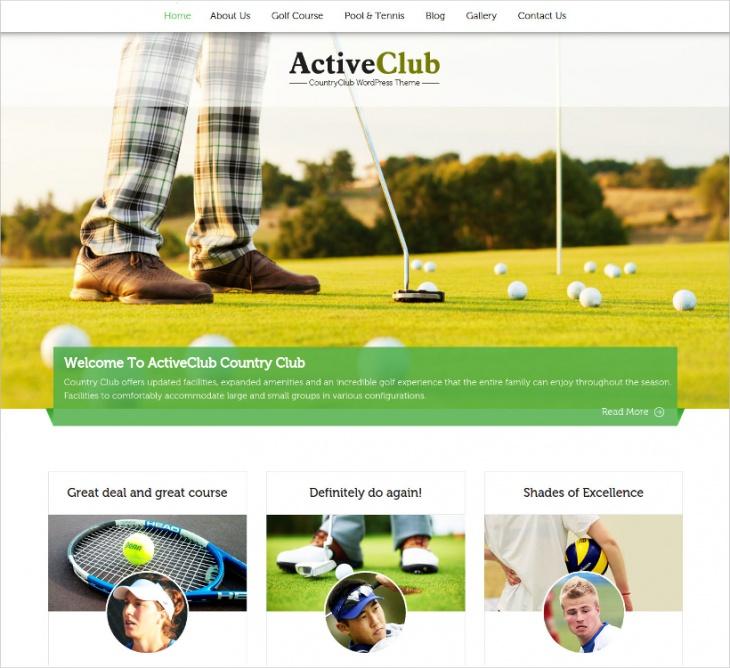 Country Club WordPress Theme