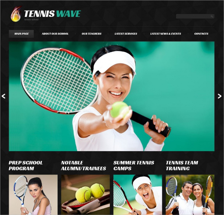 Responsive Tennis WordPress Theme