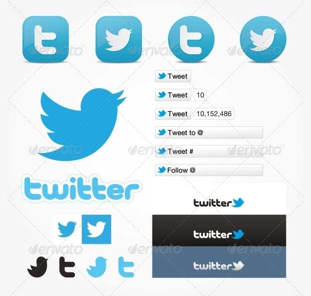 Simple Twitter Icons