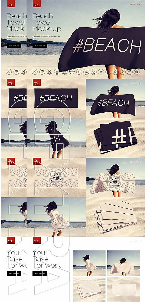 beautiful beach towel mockup1