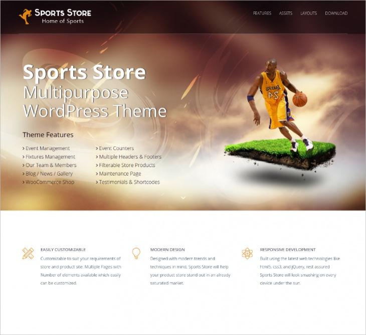 Sports Store Multipurpose WP Theme