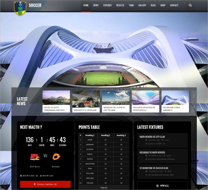Awesome Soccer WP Theme