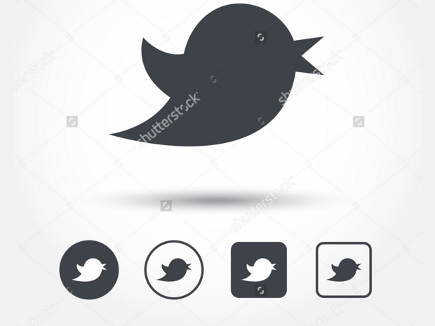 Black twitter Bird buttons Illistration
