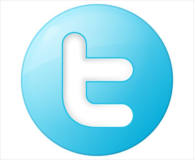 Twitter Symbol button.