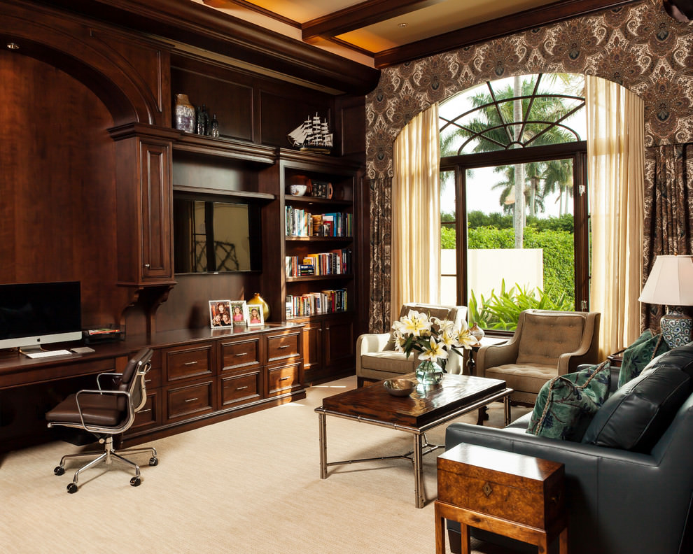 Royal beach style sofa in home office