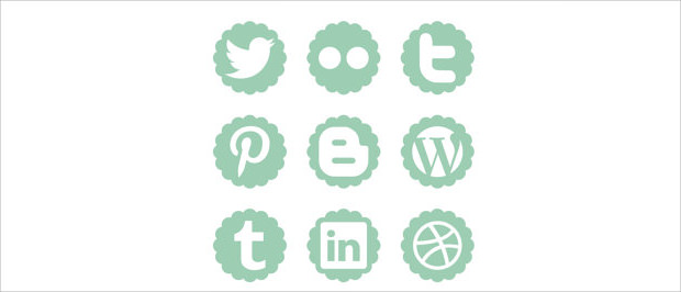 Popular Social Networking and twitter buttons