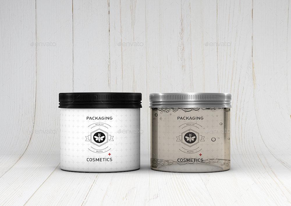 Free Cosmetic Metallic Cream Can Mockups