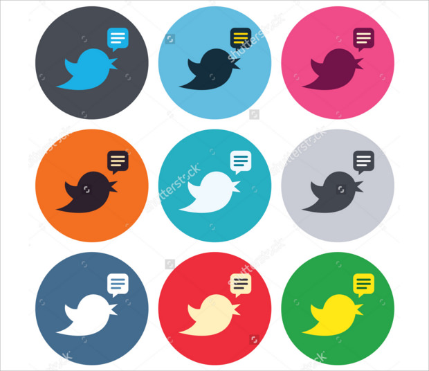 Adorable set of Retweet Twitter Bird buttons