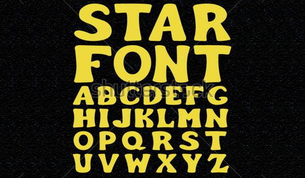 Alphabet Star Font