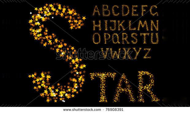 Sparkle Alphabet Font