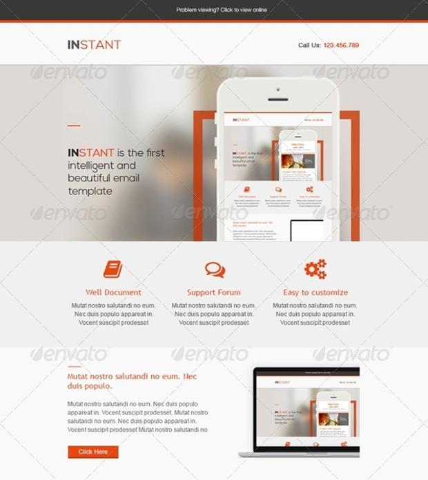 instant e mail psd template download1