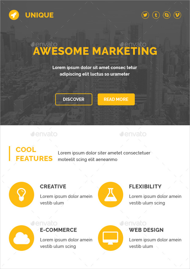 awesome email psd templates