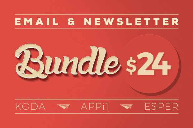 bundle of email psd templates