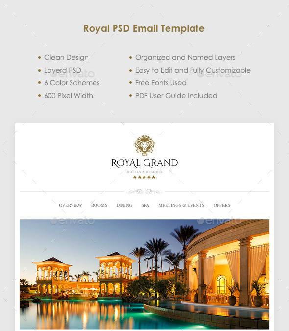 royal psd email templates