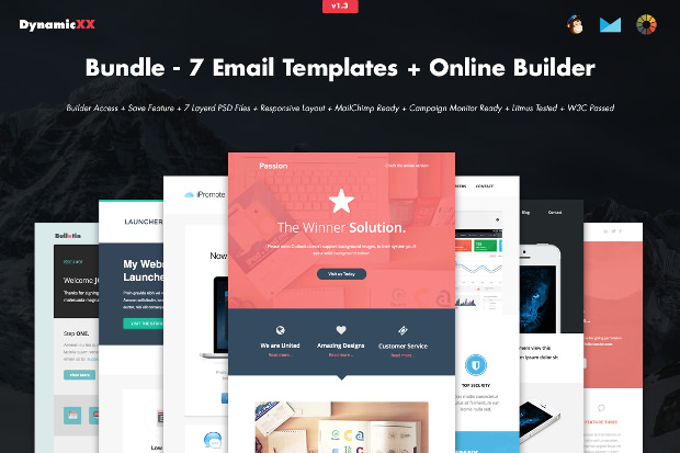 collection of psd email templates