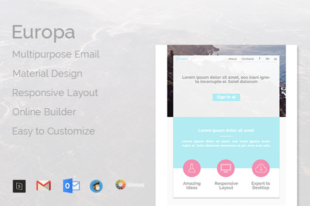 e mail collection of psd templates