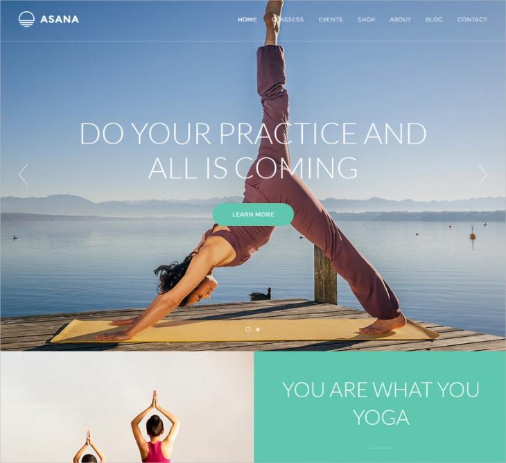 Sport & Yoga WordPress Theme
