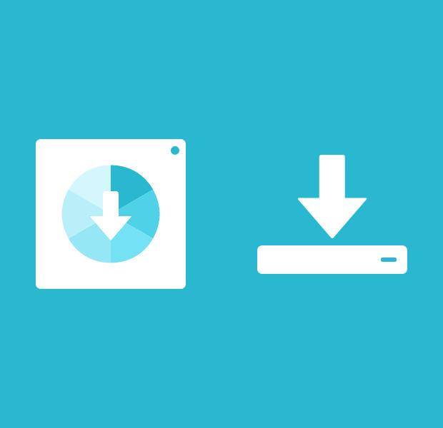 Rebound Floppy disk saving Icon.