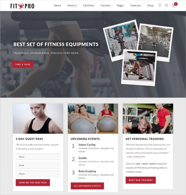 FitPro Sports WordPress Theme