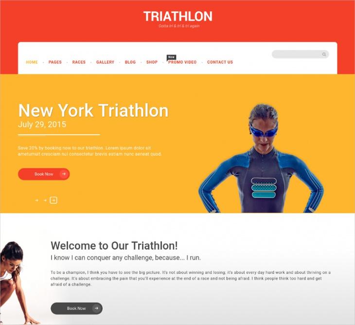 Creative Sport WordPress Template