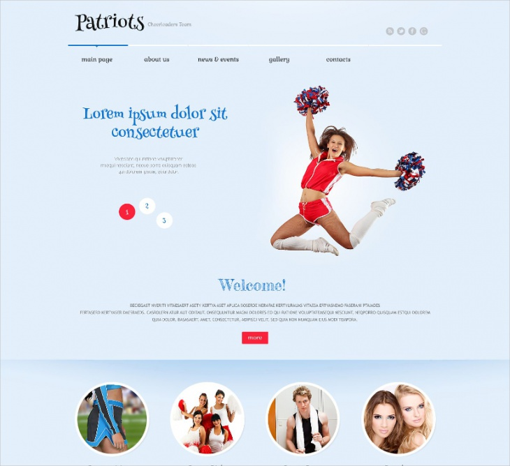 Cheerleading WordPress Theme
