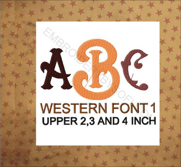 designed western font