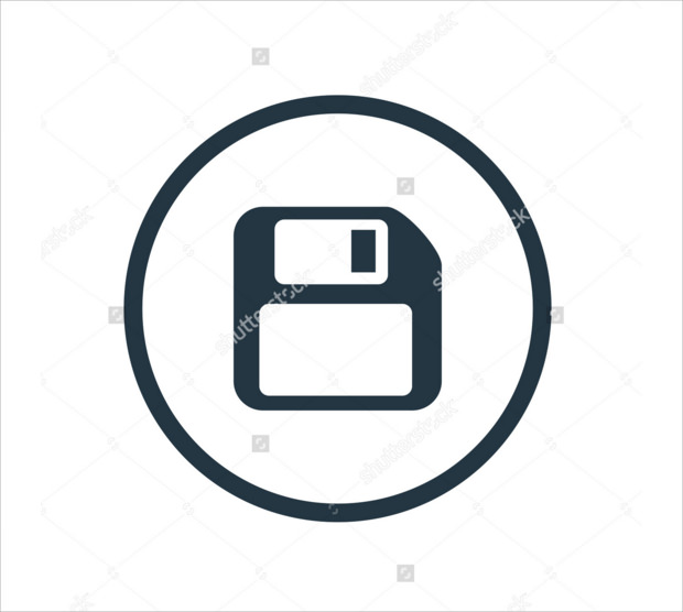 Simple file save icon