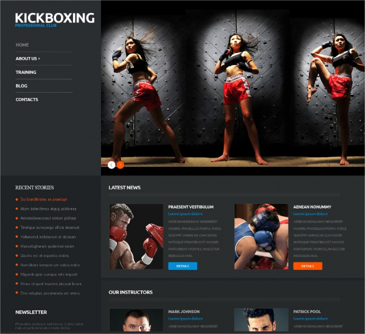 WordPress KickBoxing Club Theme