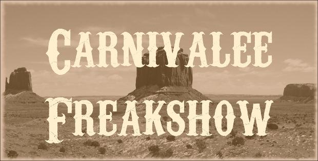 carnivalee freakshow western font