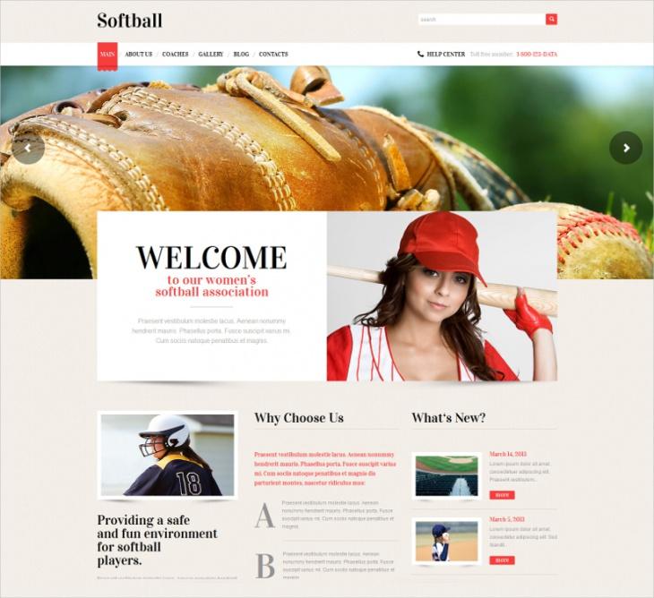 Softball Resoponsive WordPress Theme