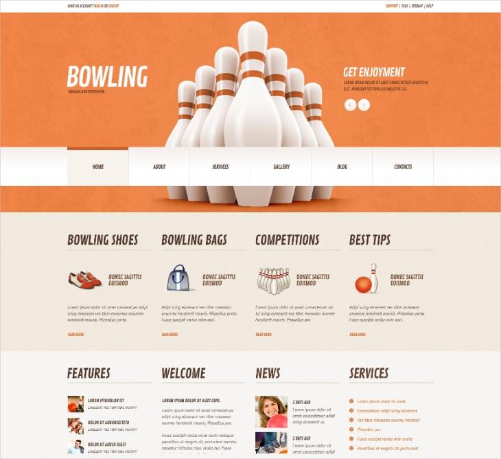 Responsive Bowling WordPress Theme