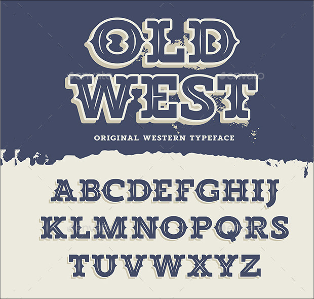 old western style font