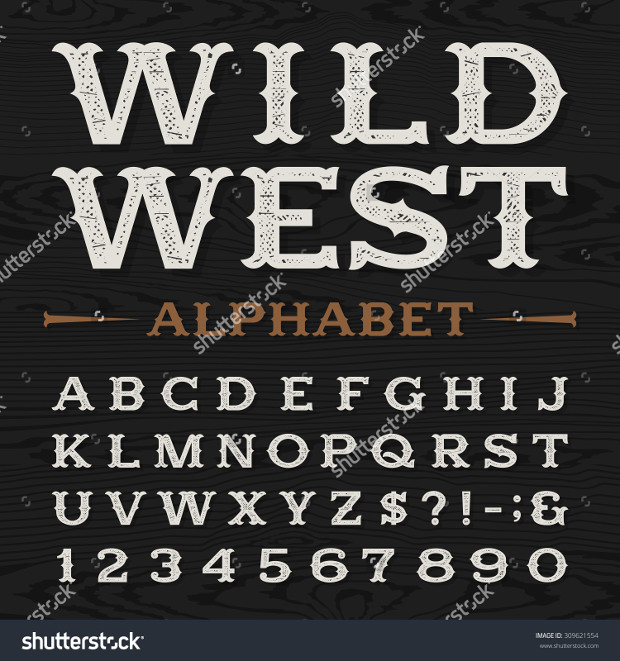 western style retro font
