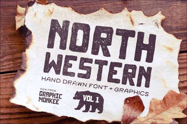 north western style font
