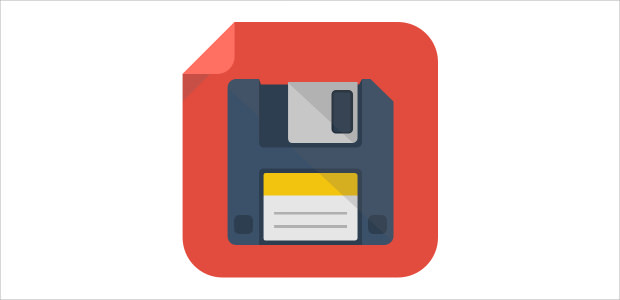 Flat Square File Saving Icon