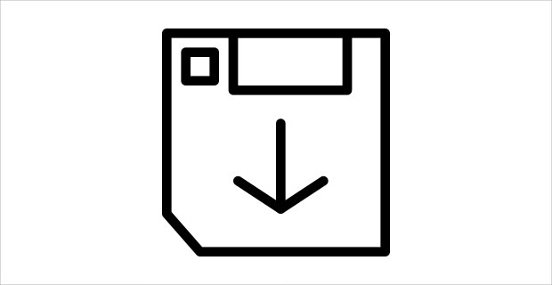 Outline File save Icons